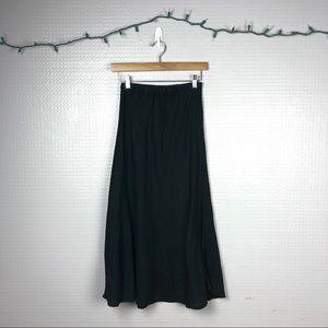 CP Shades   Linen Black Maxi Skirt XS